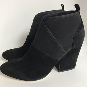 Calvin Klein black suede leather ankle boots